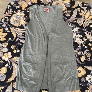 Juicy couture gray zipper vest, longer length